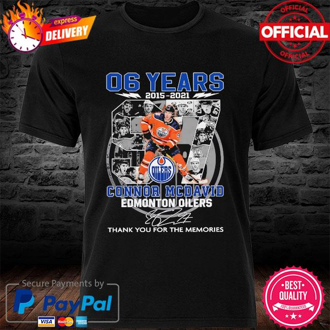 06 years Connor Mcdavid Edmonton Oilers thank you for the memories signatures shirt