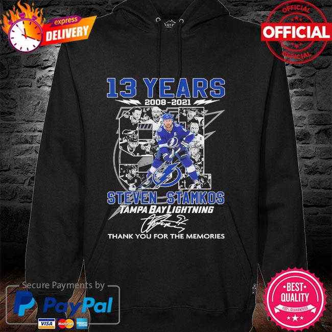 13 years Steven Stamkos Tampa bay Lighting thank you for the memories signatures hoodie