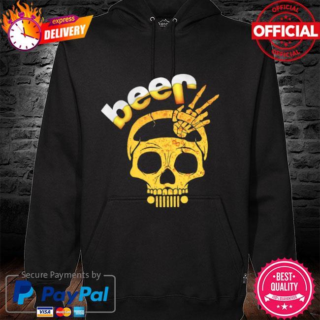 Beer skull hoodie