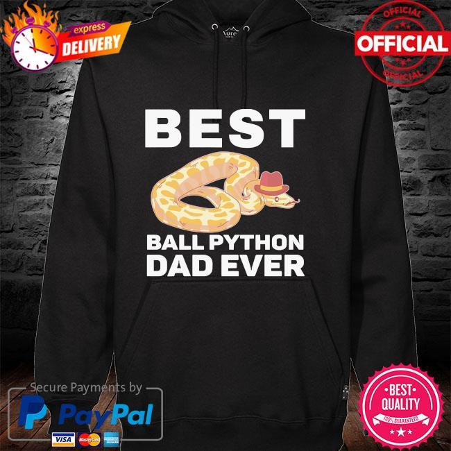 Best ball python dad beard mustache pet snake hoodie