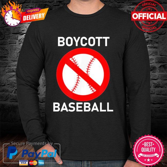 Boycott baseball sweater