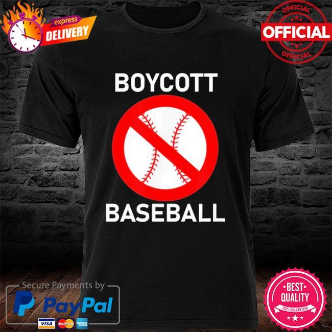 Boycott baseball shirt