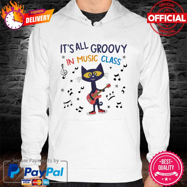 Cat it's all groovy in music class hoodie