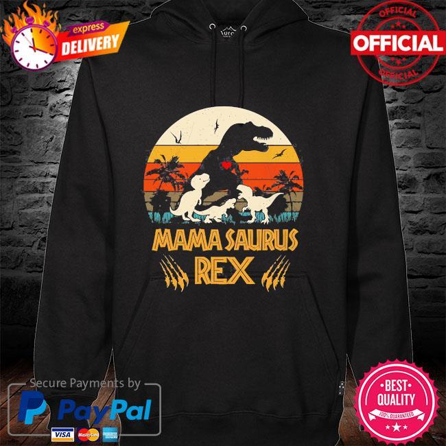 Dinosaur mamasaurus rex vintage hoodie