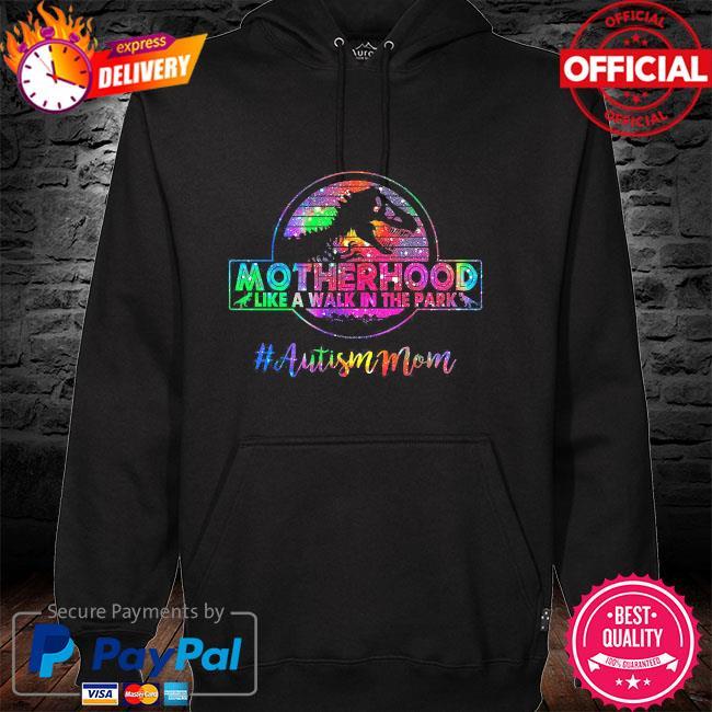 Dinosaur motherhood like a walk in the park #autism mom vintage hoodie
