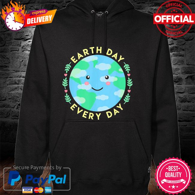 Earth day every day love the environment cute kawaii planet hoodie