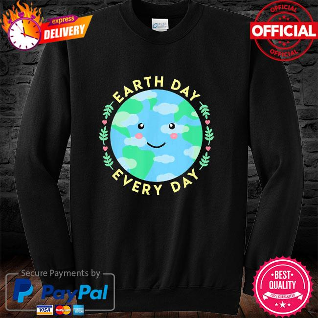 Earth day every day love the environment cute kawaii planet long sleeve