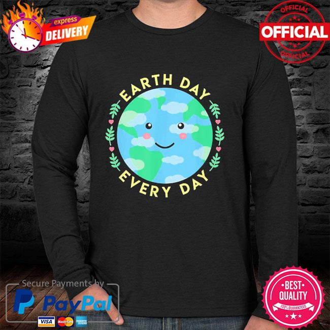 Earth day every day love the environment cute kawaii planet sweater