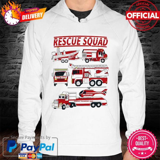 Fire truck rescue squad hoodie