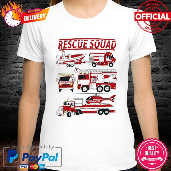 Fire truck rescue squad shirt