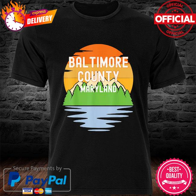 From baltimore county maryland vintage sunset shirt