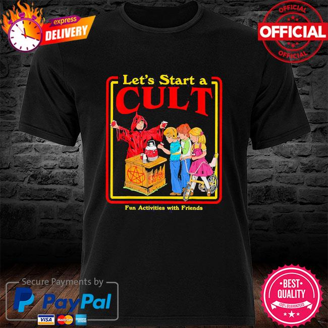 Let's start a cult satanic vintage horror edgy men women shirt