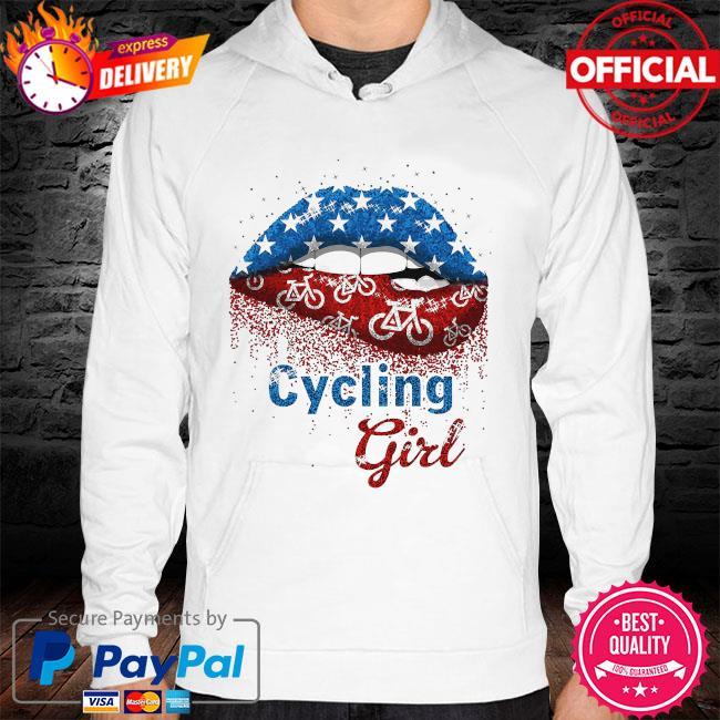 Lips Cycling Girl hoodie
