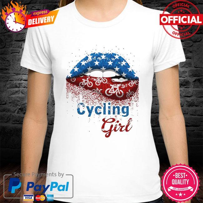 Lips Cycling Girl shirt