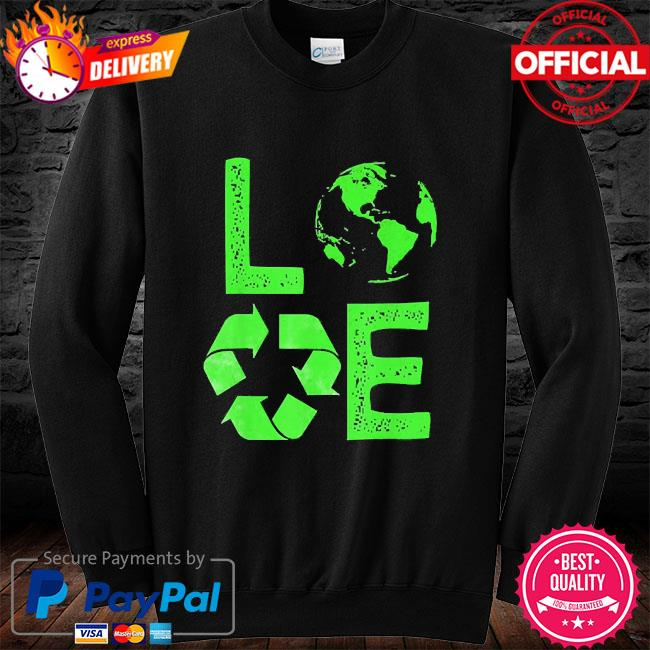 Love earth day 90s planet vintage recycling long sleeve