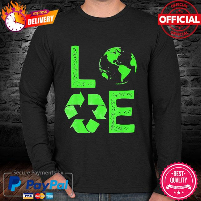 Love earth day 90s planet vintage recycling sweater