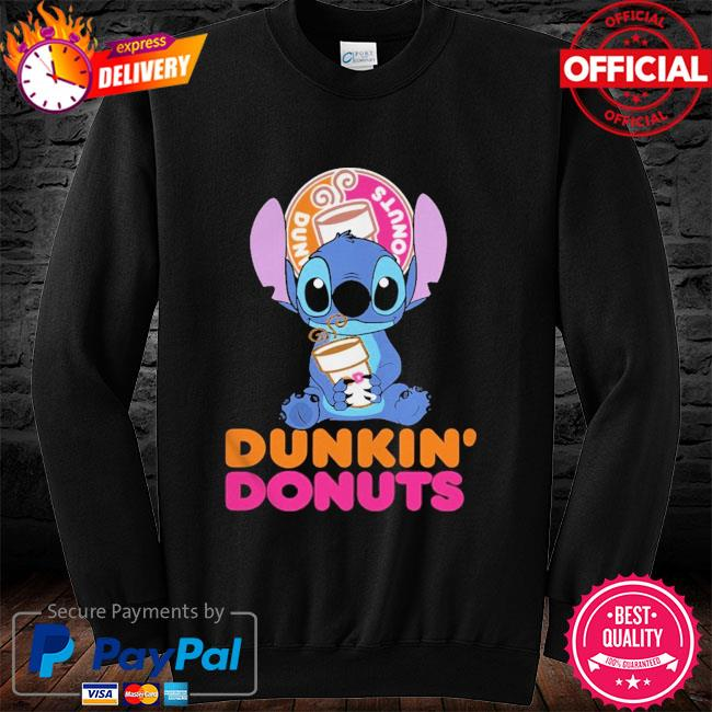 Official Baby stitch hug Dunkin' Donuts 2021 long sleeve