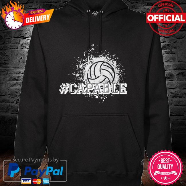 Official Volleyball #capable hoodie