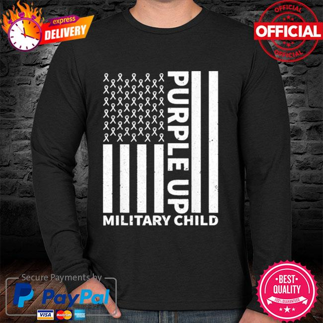 Purple up for military child military month sweater