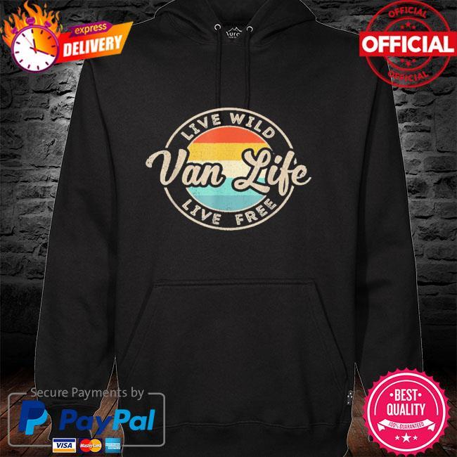 Van life clothing retro vintage van dwellers vanlife nomads hoodie