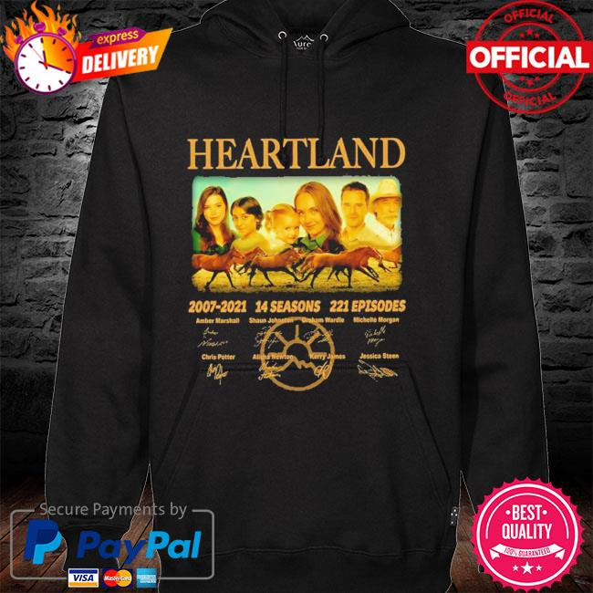 14 years of heartland 2007-2021 14 seasons 221 episodes signed hoodie