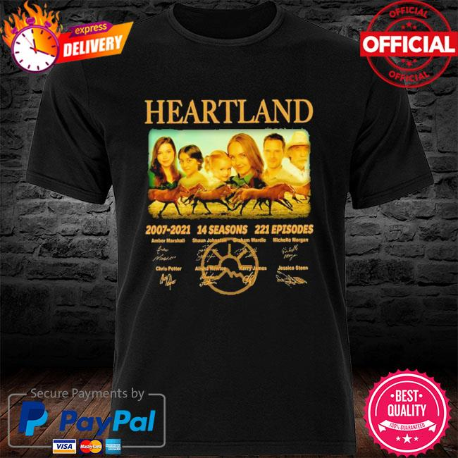 14 years of heartland 2007-2021 14 seasons 221 episodes signed shirt