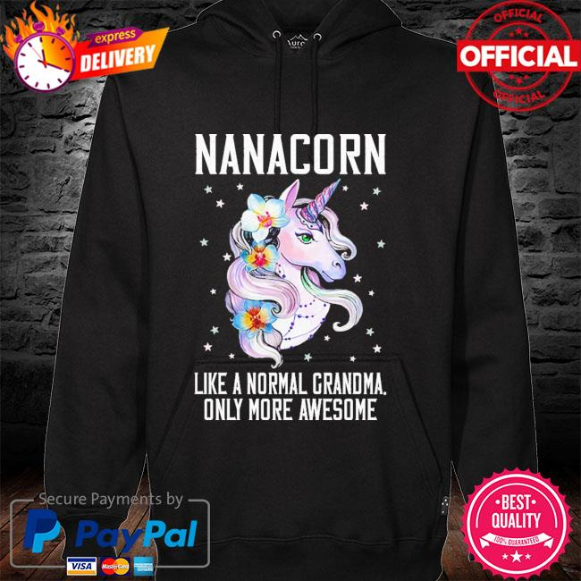 Nanacorn cute unicorn lover mother day gift grandma hoodie