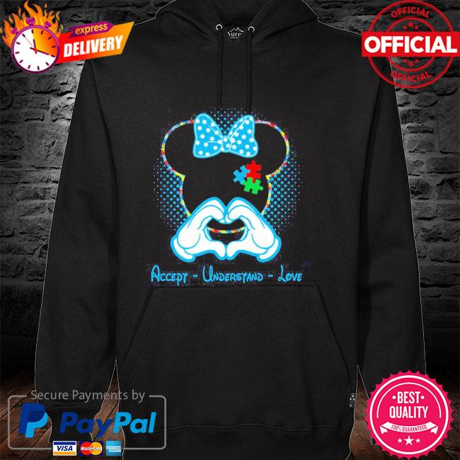 Best minnie mouse accept understand love autism awareness puzzle hoodie