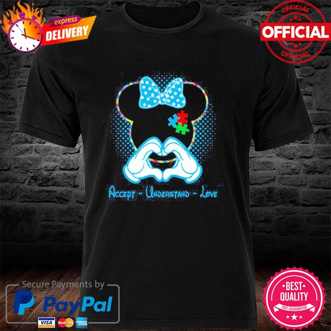 Best minnie mouse accept understand love autism awareness puzzle shirt