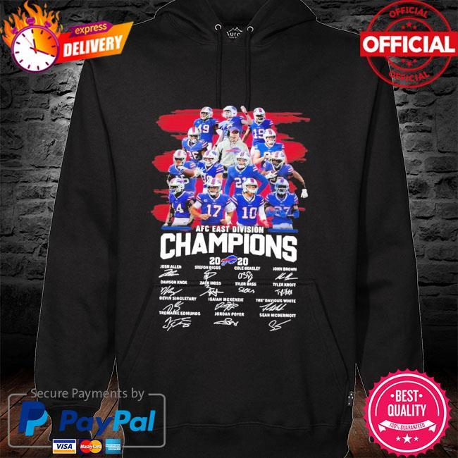 Buffalo Bills AFC East Division Champions 2020 Signature New Shirt hoodie
