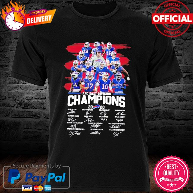 Buffalo Bills AFC East Division Champions 2020 Signature New Shirt