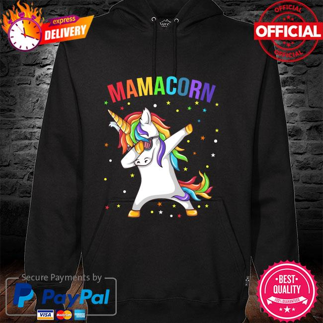 Dabbing unicorn Mamacorn happy mother's day hoodie