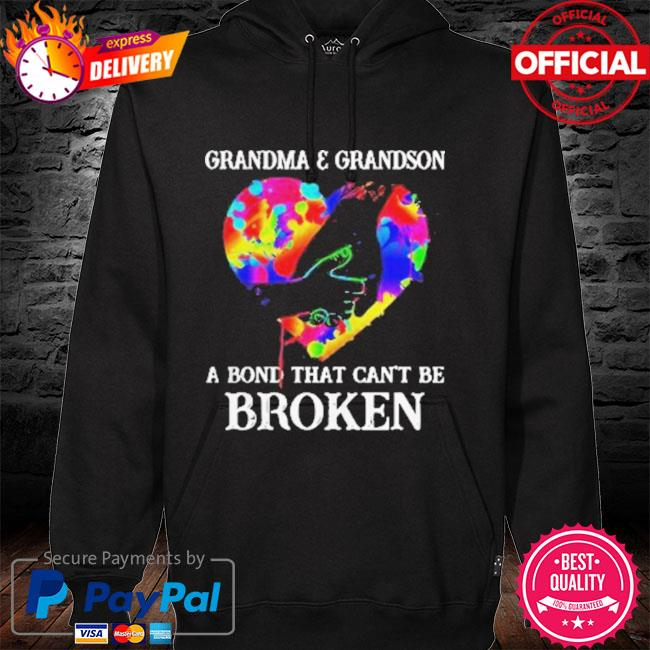 Heart Color Grandma And Grandson A Bond That Can't Be Broken 2021 Shirt hoodie