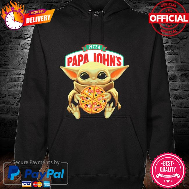 Official star wars baby Yoda hug pizza papa johns hoodie