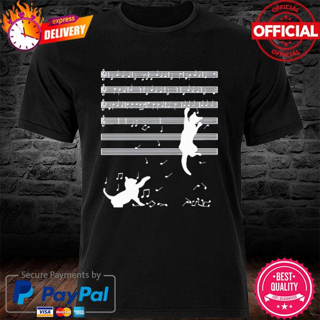 Original 2021 cats playing musical notes and make it down shirt