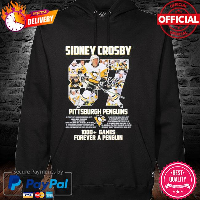Original 87 sidney crosby Pittsburgh penguins 1000 games forever a penguins hoodie