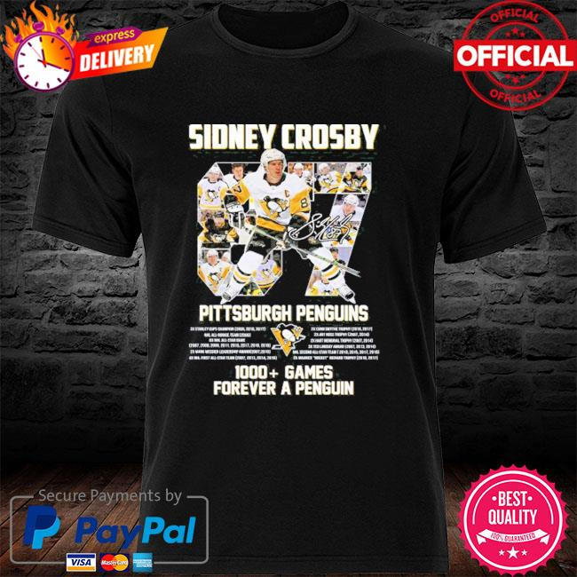 Original 87 sidney crosby Pittsburgh penguins 1000 games forever a penguins shirt