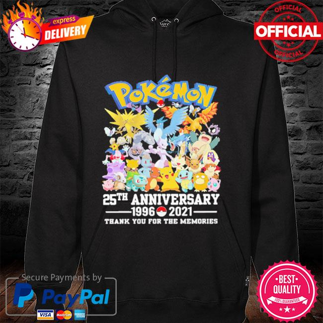 Pokemon 25th anniversary thank you for the memories signatures hoodie