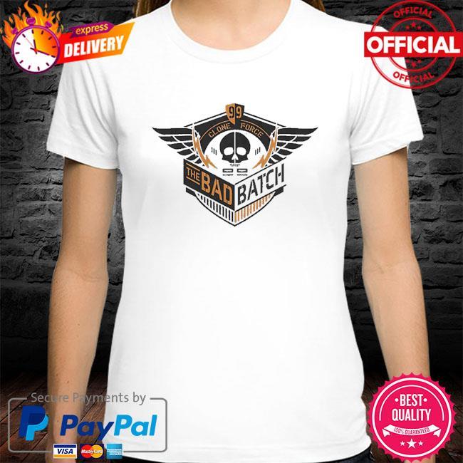 Star Wars The Bad Batch Clone Force 99 skull shirt