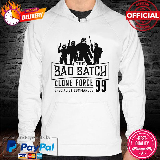 Star Wars The Bad Batch Clone force 99 specialist commandos hoodie