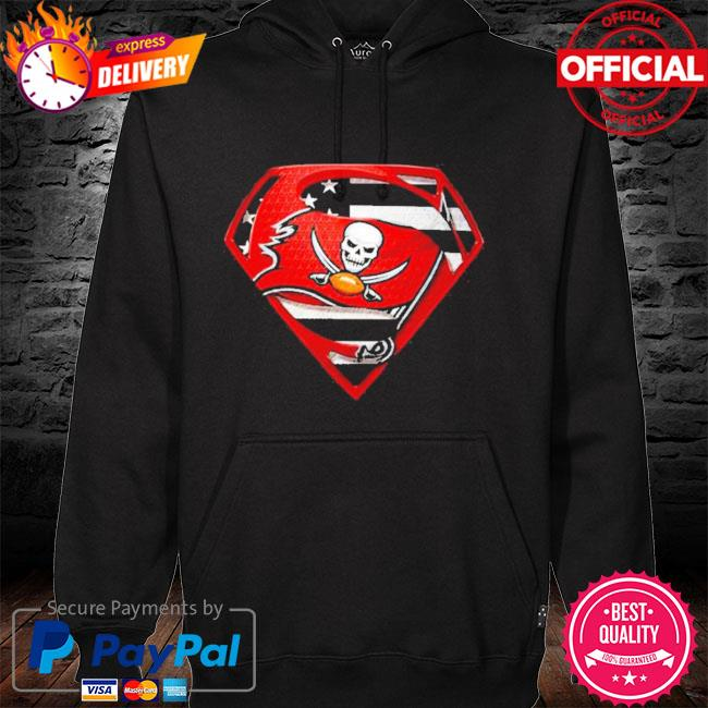 Superman tampa bay buccaneers champions super bowl liv American flag hoodie