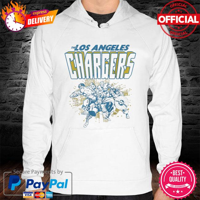 The Los Angeles Chargers Marvel hoodie