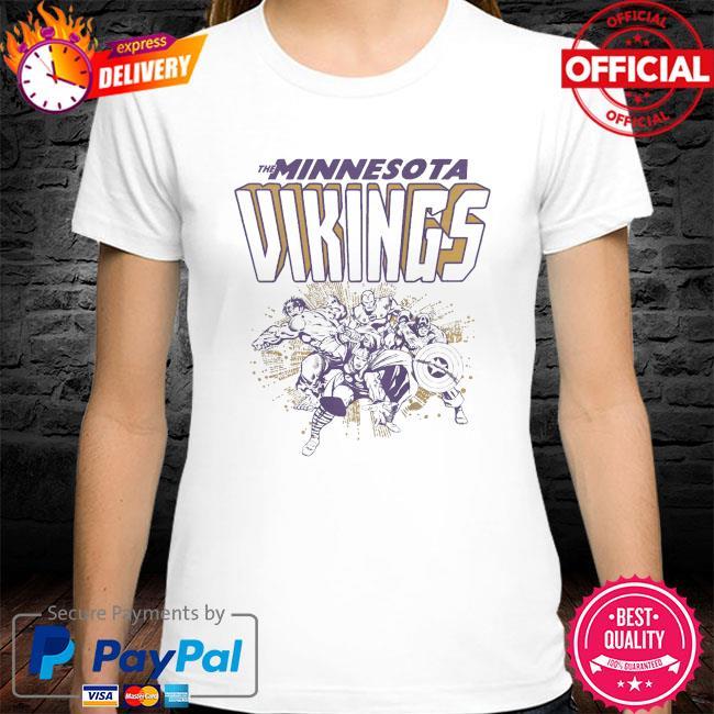 The Minnesota Vikings Marvel Avengers shirt