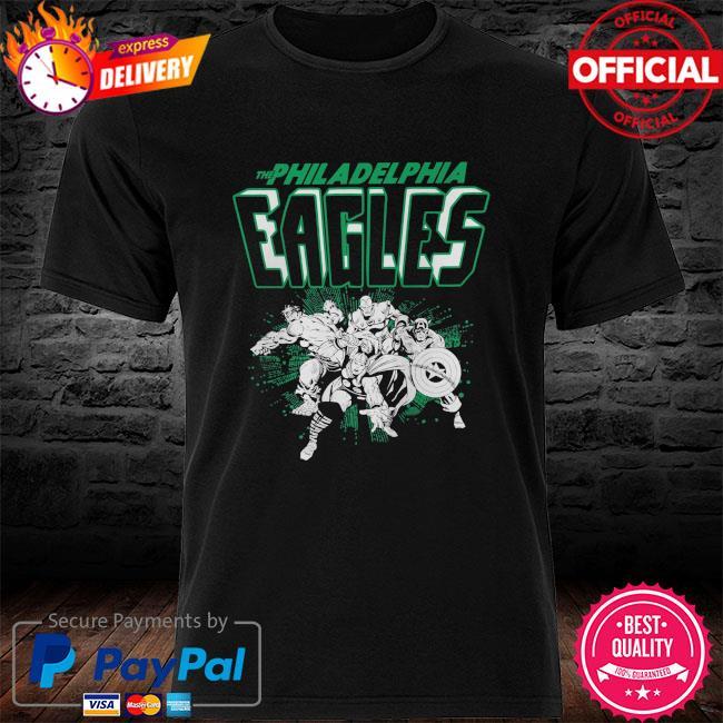 The Philadelphia Eagles Marvel Avengers shirt