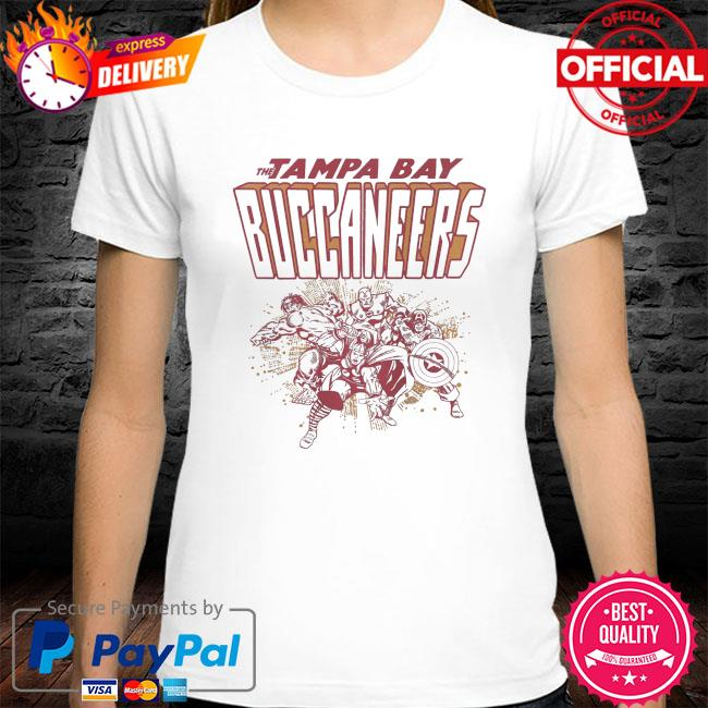 The Tampa Bay Buccaneers Marvel shirt