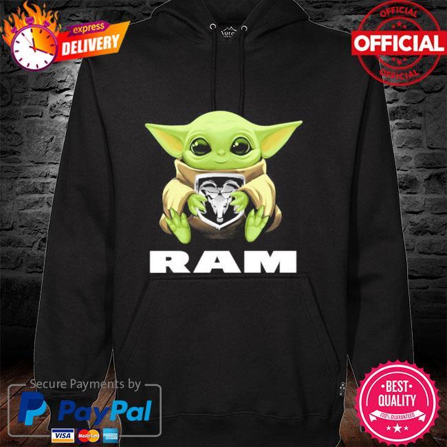 Baby Yoda hug Ram hoodie