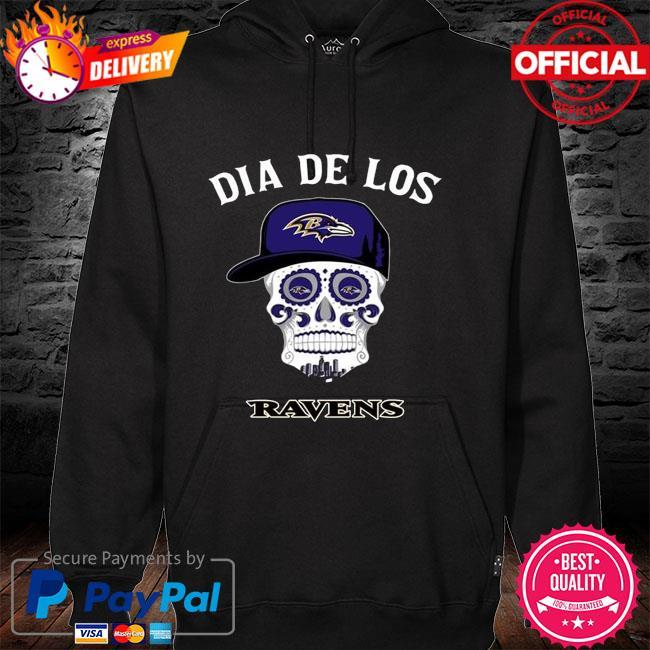 Baltimore Ravens Dia De Los Baltimore Ravens Sugar Skull Poco Loco Shirt hoodie