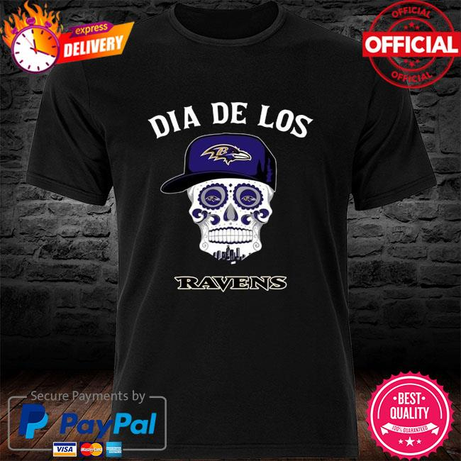 Baltimore Ravens Dia De Los Baltimore Ravens Sugar Skull Poco Loco Shirt