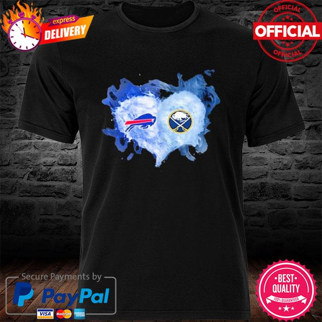 Buffalo Bills And Buffalo Sabres Flaming Heart Fan T Shirt