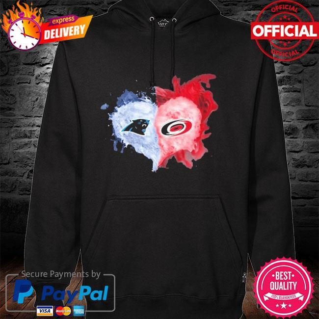 Carolina Panthers And Carolina Hurricanes Flaming Heart Fan Shirt hoodie